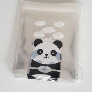 100 Small Panda Clear Bags Favor Bag 10x10 cm